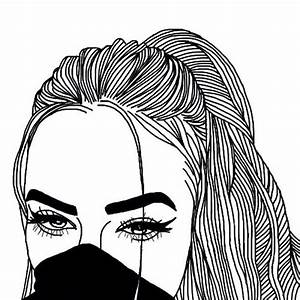 Black And White Drawing Of A Girl at GetDrawings com