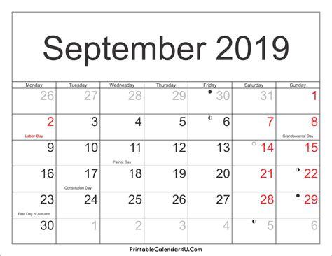 september  calendar  calendar