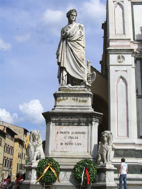 dante alighieri statue  enrico fermi  florence