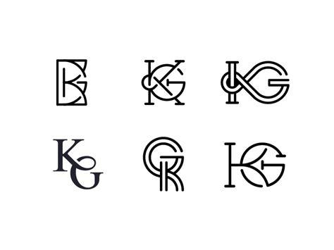 kg monograms  mohamed nasseh  dribbble