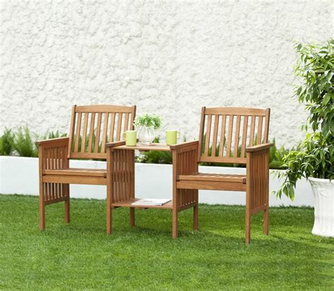 Wooden Patio Furniture Sets by Garden Set Wooden Table Chairs 2 Seater Bench Wooden Deck