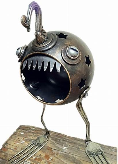 Object Found Sculptures Metal Sculpture Recycled Objects