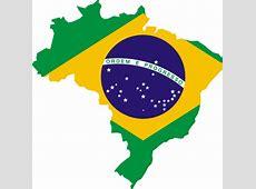 Mapa de bandeira do Brasil Vectores de Domínio Público