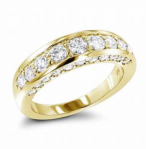 thin 14k gold round diamond ladies wedding ring 13ct With ladies gold wedding rings