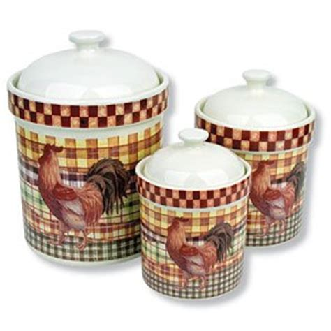 rooster canisters kitchen products 3 country rooster canisters ceramic jars