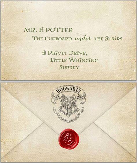 harry potter admittance letter  printable