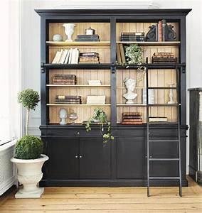 idees bibliotheque With meuble tele maison du monde 10 bibliothaque sur mesure bois metal micheli design