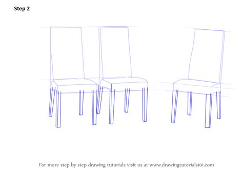 Learn How To Draw Dining Table With Chairs (furniture