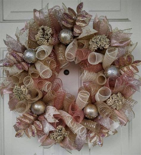 rose gold christmas wreath gold christmas