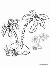 Palm Coloring Tree Pages Printable Template Trees Templates Recommended sketch template