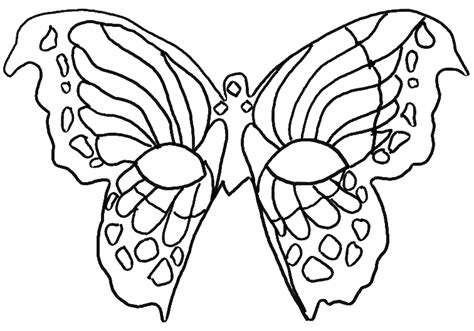 Coloring Pretty Mask In Form Of Butterfly Picture