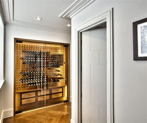 glass enclosed wine cellars stact wine racks