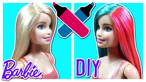 How To Color Barbie Doll Hair