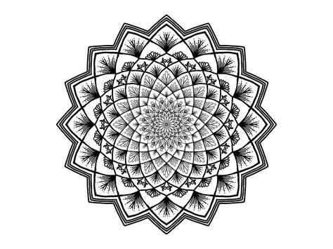 kostenlose illustration mandala schwarz und weiss