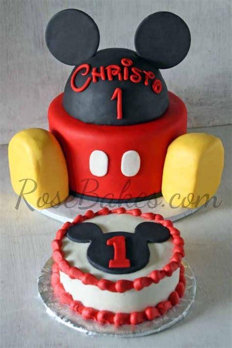 mickey mouse cake  smash cake rose bakes