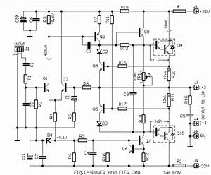 30w Power Audio Amplifier Circut