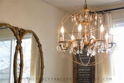 diy orb chandelier tutorial vintage style