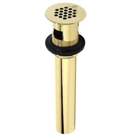 decolav sink stopper removal shop decolav polished brass grid drain decorative sinks