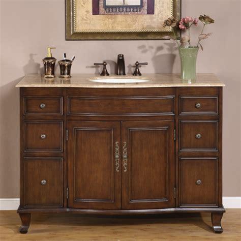 48 inch sink vanity 48 inch antique brown single sink bathroom vanity with