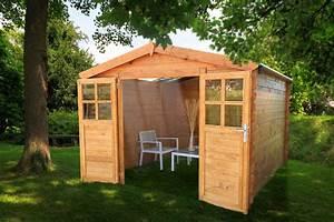 Abri De Bois : abri de jardin en bois soleil 3x4 avec toit transparent ~ Melissatoandfro.com Idées de Décoration
