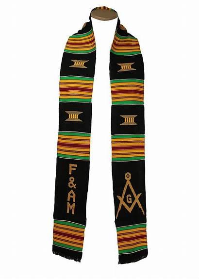 Kente Stole Masonic Gold Africa Coast Cloth