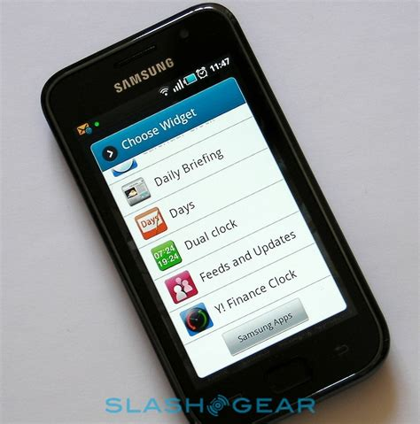 samsung galaxy  review slashgear
