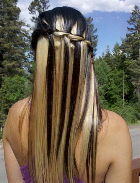 cute waterfall twist tutorial long hairstyles ideas