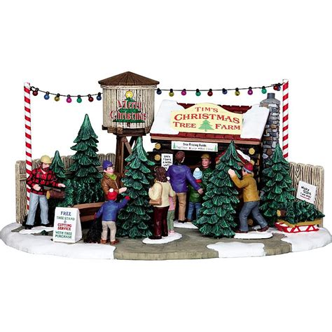 lemax village collection 3834 tim s christmas tree farm sears outlet