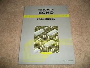 2004 Toyota Echo Electrical Wiring Diagrams Manual Oem