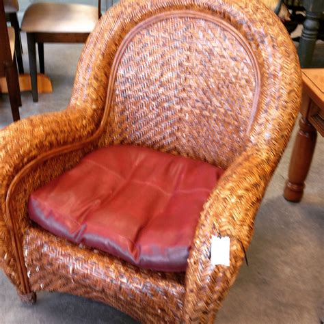 large rattan pottery barn chair sold designsbyconsign