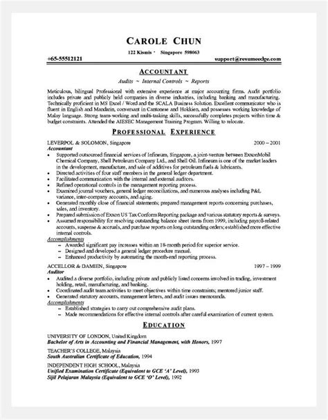 Experienced Accountant Resume by Experienced Accountant Resume Format Resume Ideas