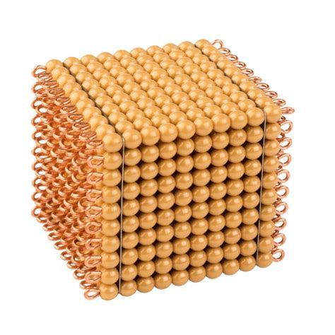 golden bead cube   individual beads nylon