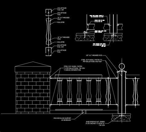 Free CAD Details Balustrade Installation   Free CAD
