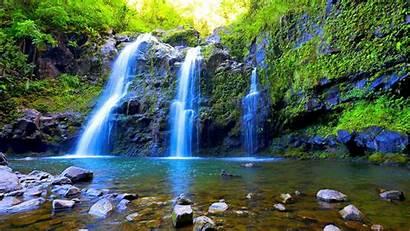 Waterfall Waterfalls Falls Desktop Triple Moss Wallpapers