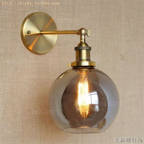 brass retro industrial wall lamp vintage fixtures led