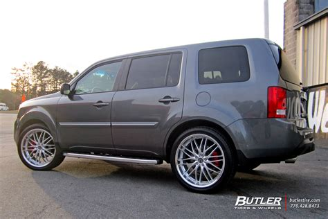 Honda Pilot With 22in Mrr Gt1 Wheels Exclusively From