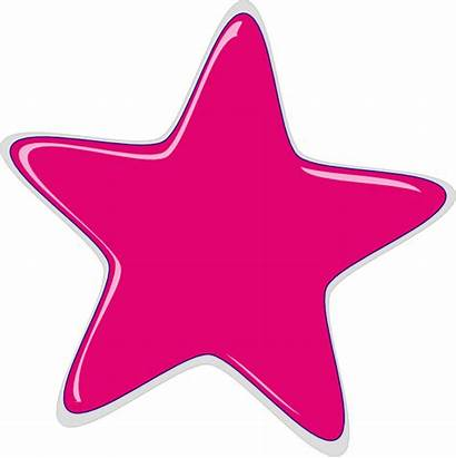 Pink Star Stars Clipart Clip Bright Colorful