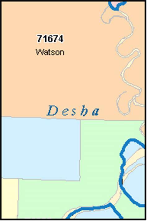 Desha County, Arkansas Digital Zip Code Map