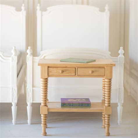 Spindle Nightstand by Bronwyn Spindle Side Table By The Beautiful Bed Company
