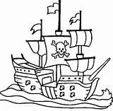 Coloring Sea Drawing Pirate Skull Monster Ship Line Ausmalbilder Lego Boat Ninjago Symbol Monsters Feuerwehr Skulls sketch template