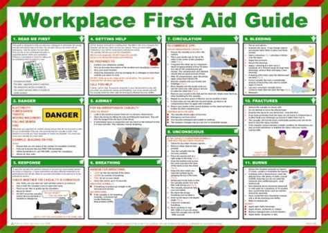 workplace  aid guide poster safety services direct