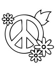 Peace Flower Coloring Pages