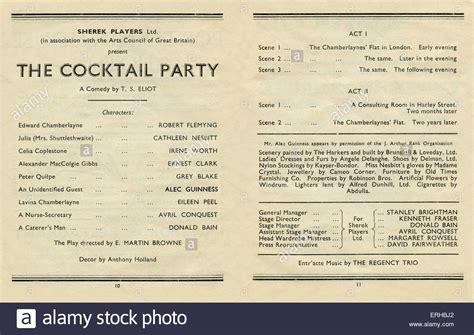 T S Eliot  Die Cocktailparty, Einer Neuen Komödie Das