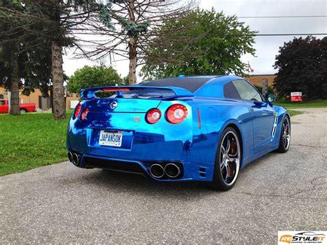 Gtr Chrome by Nissan Gtr Blue Chrome Wrap Vehicle Customization Shop