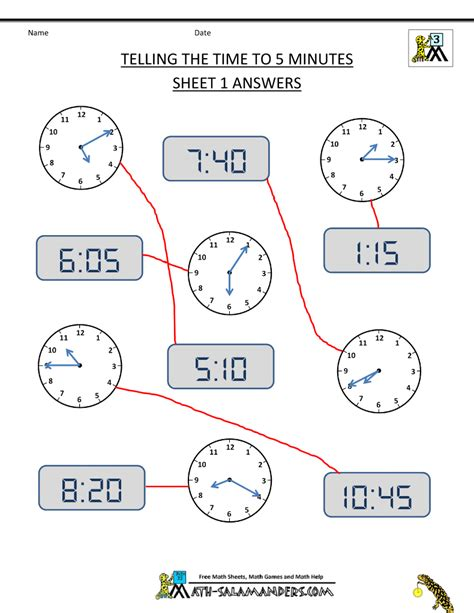 maths worksheets on time for class 5 telling time clock worksheets to 5 minutes