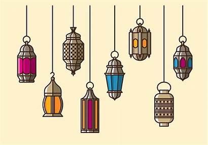 Lantern Maroc Ramadan Lanterne Vecteezy Clipart Eid