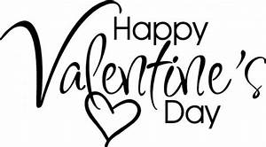 Happy Valentine's Day Clip Art Black And White | DesignCorner