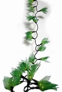 Guirlande De Photo : guirlande lumineuse rubber leaf tree vert guirlandes lumineuses feuilles d 39 h v a asia ~ Nature-et-papiers.com Idées de Décoration