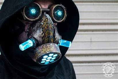 Mask Cyberpunk Dystopian Led Twohornsunited Gas Deviantart
