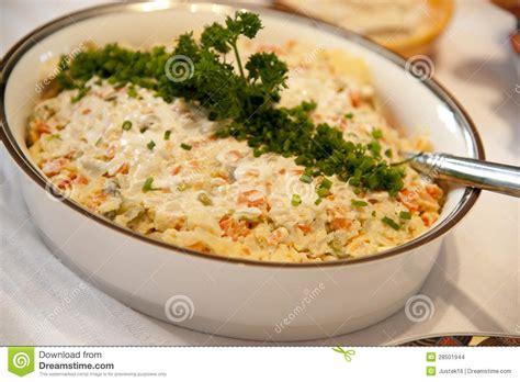 cuisine polonaise traditionnelle salade vegatable polonaise images stock image 28501944